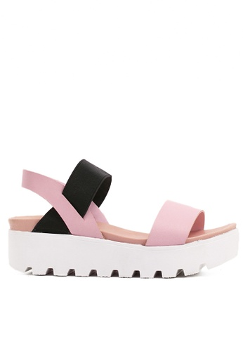 Twenty Eight Shoes pink PVC Sandals-elastic TW446SH79SSYHK_1