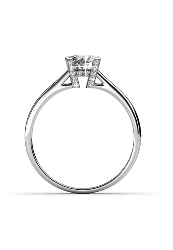 Her Jewellery silver Swarovski® Zirconia - Her's Ring (18K White Gold Plated) Her Jewellery HE581AC0RDG3MY_1