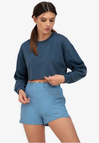 ZALORA ACTIVE blue Raw Hem Cropped Sweatshirt ABCF8AA158C19CGS_1