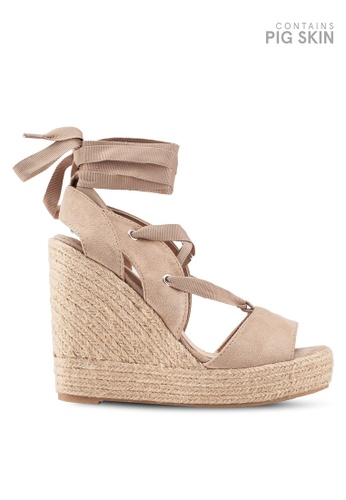 b5b8bf1d435a Buy VANESSA WU Lace Up Sandal Wedges Online on ZALORA Singapore