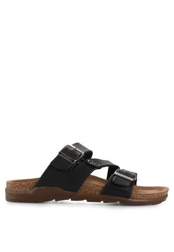 CARVIL black Man Sandal Footbed Duke-03M CA566SH84EFFID_1