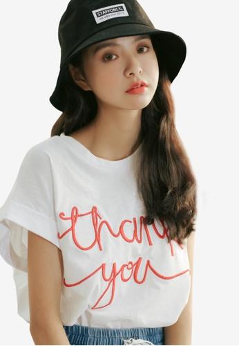 Shopsfashion white Thank You Tee in White SH656AA60PMXSG_1