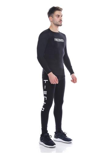 Jual Tiento Tiento Baselayer Manset Olahraga Lengan Panjang Freedive Dan Celana Legging Pria Long Pants Typotype Black 1 Stelan Original Zalora Indonesia