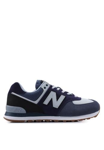 New Balance navy 574 Lifestyle Shoes F59A7SH824B923GS_1