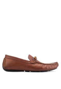 【ZALORA】 扣環仿皮船型鞋