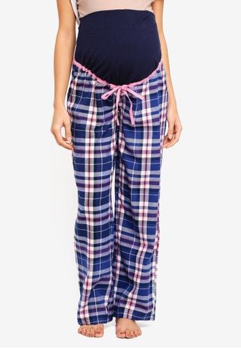 JoJo Maman Bébé navy Maternity Tartan Pyjama Pants 33ACBAA03D23D9GS_1