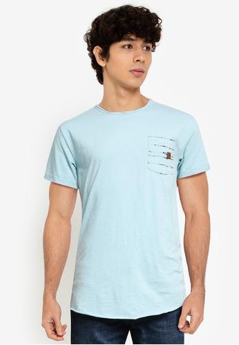 Indicode Jeans blue Moran Pocket T-Shirt 4EA6BAAAB5FCFDGS_1
