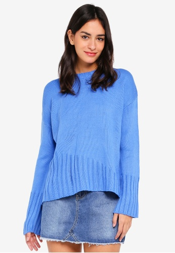 Cotton On blue Ainsley Asym Rib Hem Pullover 9320AAA03D08F7GS_1