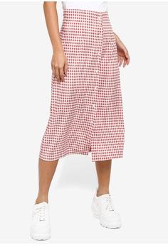 61ac410de1 Something Borrowed pink Button Down Midi Skirt A9A24AAD8FBD35GS_1