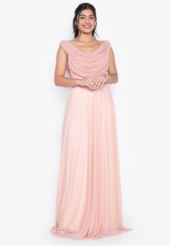 Tantease pink Leanna Evening Dress 8B051AAFE4B371GS_1