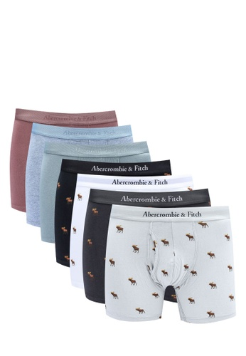 Abercrombie & Fitch multi 7-Pack Icon Boxer Briefs 70AABUS0B7B32BGS_1
