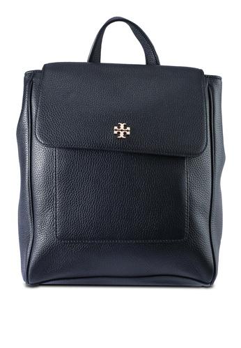 TORY BURCH black Carter Flap Backpack (NT) DCF0DAC8625DB0GS_1