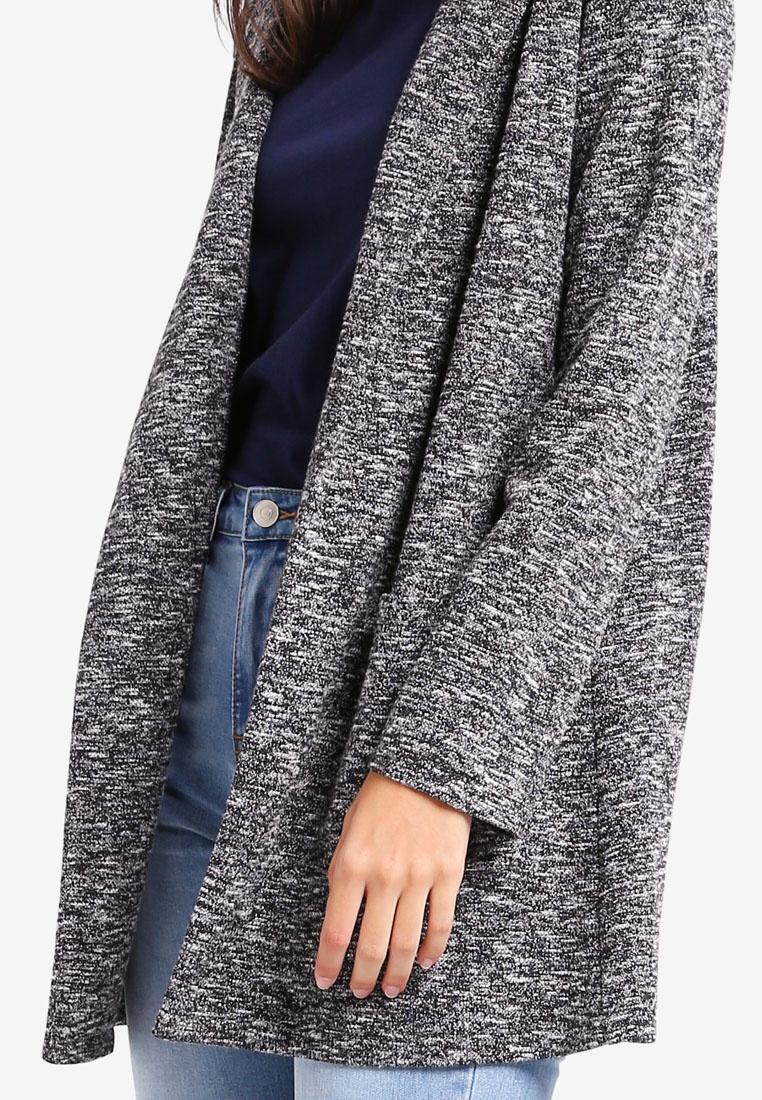 Pepper Salt Longline Jacket ZALORA Knit wxq4XaS