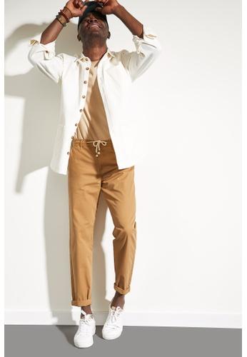DeFacto brown Regular Trousers 08EC4AAEEA07F3GS_1