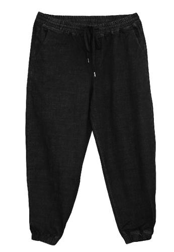 Extrema black Extrema Men Big Size Denim Jogger Long Pants 0XL-6XL Plus Size EX837 94635AAC94A433GS_1
