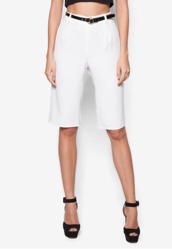 Carly 中腰闊管短褲, 服飾, 長褲及內zalora 衣服評價搭褲