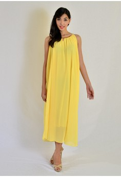 Maxi Chiffon with Necklace