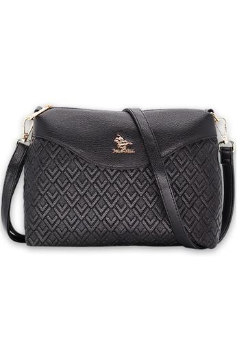 Polo Hill 黑色 Polo Hill Tessellated Sling Bag 89928AC6D2B51FGS_1