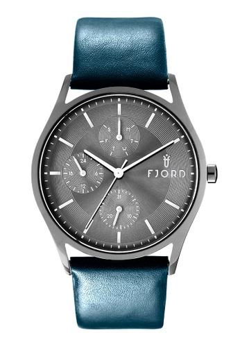 Fjord black Fjord Men's Genuine Leather Watch - FJ-3035-06 D398AAC6E4E974GS_1