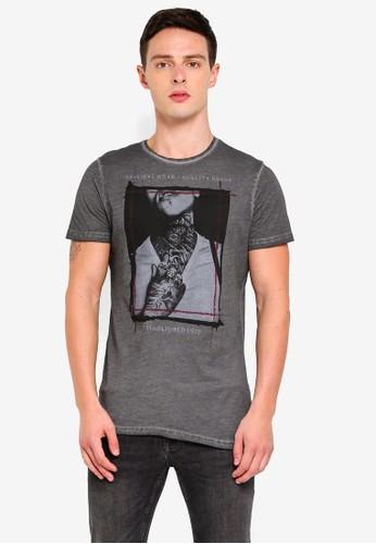 Brave Soul grey Crew Neck T-Shirt 7CB95AAACCF1E3GS_1