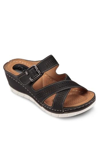 網孔zalora 手錶 評價繫帶楔型鞋, 女鞋, 楔形涼鞋