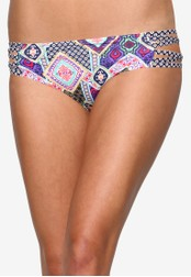 Piha navy Modern Folk Bound High Waisted Bikini Bottom PI734US14ERXMY_1