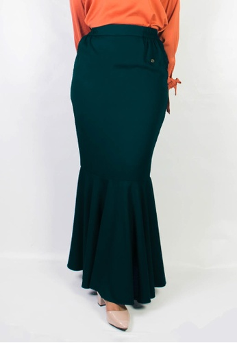 Zaryluq green and blue Fishtale Skirt in Peppermint EFFD0AA5961A77GS_1