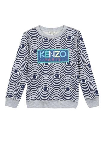 KENZO KIDS grey KENZO BOYS SWEATSHIRT CA611KA010624BGS_1