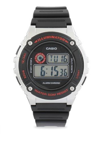 Casio black Casio Jam Tangan Pria - Black Silver - Resin - W-216H-1CVDF 4445CAC53488B8GS_1