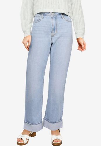 Hollister blue Ultra High Rise Dad Jeans 187C8AA8C0571DGS_1