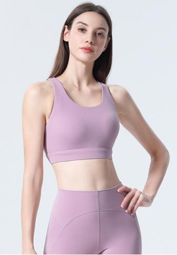 Trendyshop purple Quick-Drying Yoga Fitness Sports Bras B045DUSB25CF18GS_1