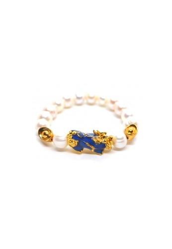 Shinju Pearls white SHINJU PEARLS-Chameleon Piyau with Fresh Water Pearl Bracelet 21048AC048763DGS_1