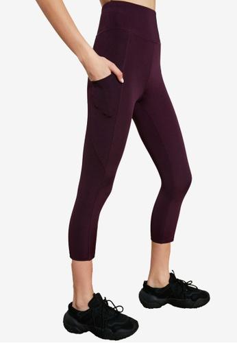 Trendyol purple Side Pocket Sports Leggings 776FBAA339DA6DGS_1