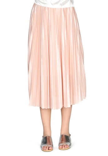 af2af5986a London Rag pink Pink Pleated Midi Skirt 6CC0EAA139E1E2GS_1