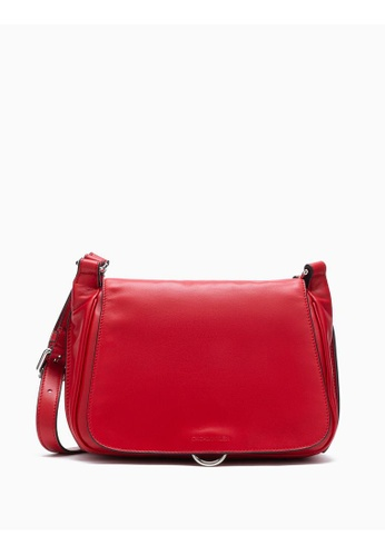 Calvin Klein red Leather Flap Shoulder Bag 27B0CAC919C55DGS_1