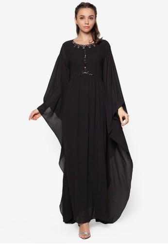 Embellished Kaftzalora是哪裡的牌子an Dress, 服飾, 長洋裝
