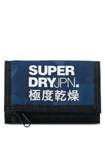 Superdry navy Exclusive to Zalora - Tri-Fold Polyester Wallet 50CA7ACFFB9B0CGS_1