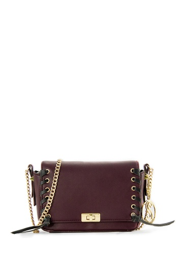 SEMBONIA red SEMBONIA Synthetic Leather Crossbody Bag (Maroon) 08613AC6544C24GS_1