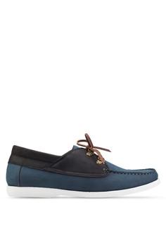 【ZALORA】 仿皮繫帶船型鞋