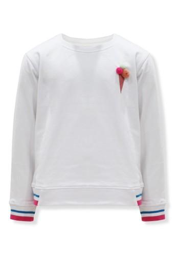 Osella Kids white Osella Baju Anak Perempuan Sweater putih ICE CREAM pompom 1B9FBKA5DFDF8DGS_1