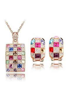 The Queen Crystal Accessories Jewellery Sets
