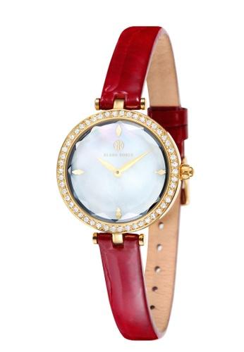 Klaus Kobec red Klaus Kobec ANGEL  KK-10001-01 Women's Red Genuine Leather Strap Watch 17324AC68B8AFEGS_1