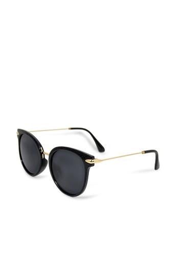 ASLLY black and gold Travel definition │Cat-Eye black Sunglasses 2DA8DGLBDEF758GS_1