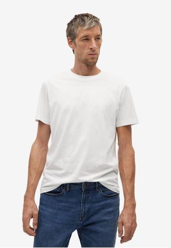 MANGO Man white Organic Cotton T-Shirt 7E51DAA7F29DFDGS_1