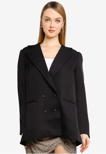 Supre black Charlotte Oversized Blazer BDC2FAAB1054FEGS_1