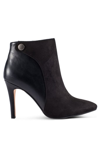 ZALORA black Mixed Material Booties 688CFSH0F767A9GS_1