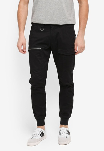 Sparrow Green black Uma IV Rib-Cinched Flight Cargo Joggers 5E72BAA5021062GS_1