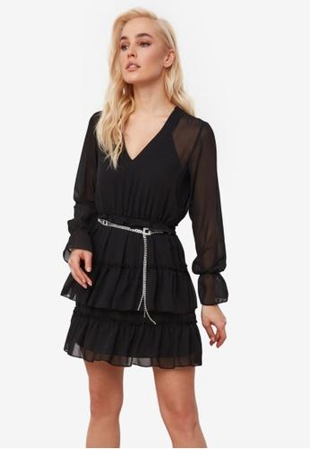 Trendyol black Ruffle Tier Detail Dress F24BAAA2E8A4C5GS_1