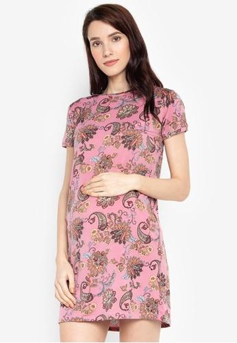 5df5f463a9c Shop Mommy Plus Liezl Paisley Print Maternity Dress Online on ZALORA  Philippines