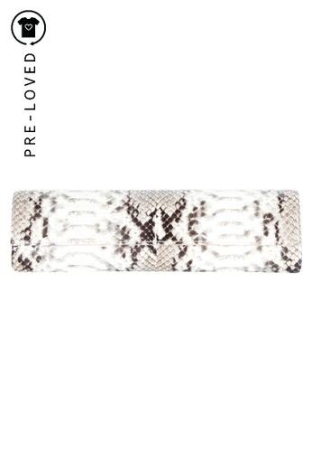 Rodo multi Pre-Loved rodo Snake Skin Clutch 4835FAC06E75BEGS_1
